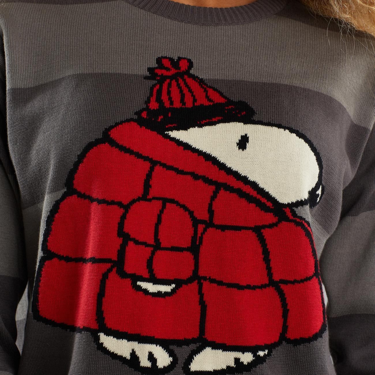 Sweater Arendal Snoopy Puffer Dark Stripe