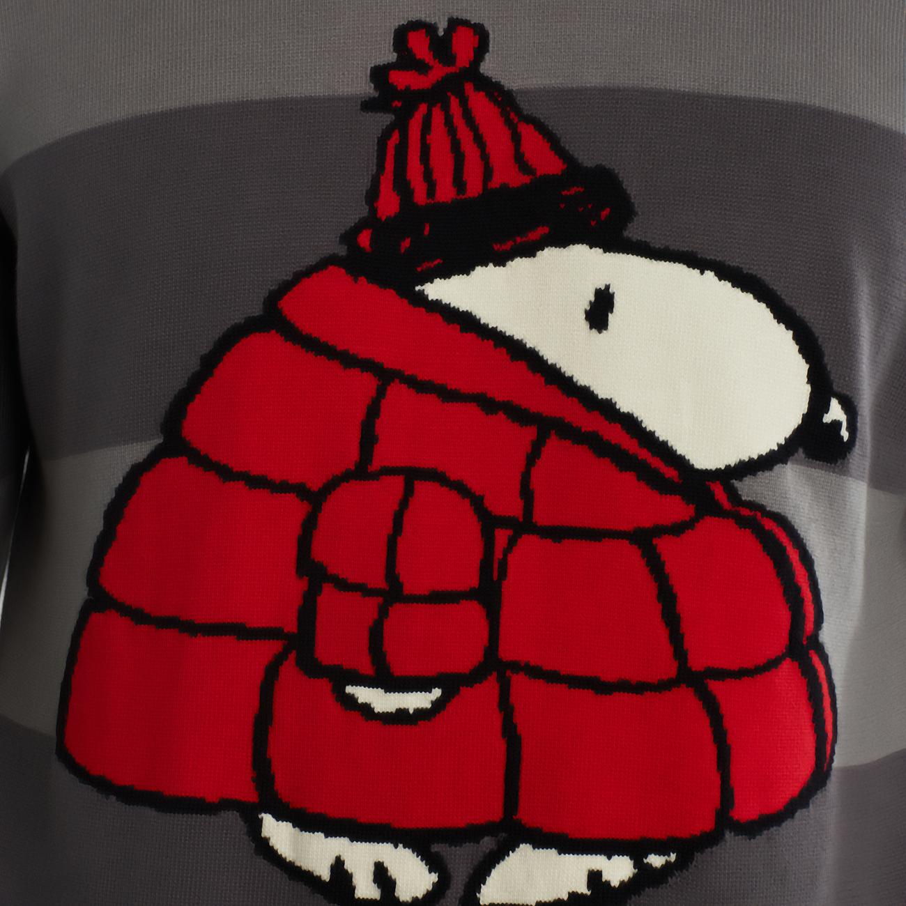 Sweater Mora Snoopy Puffer Dark Stripe
