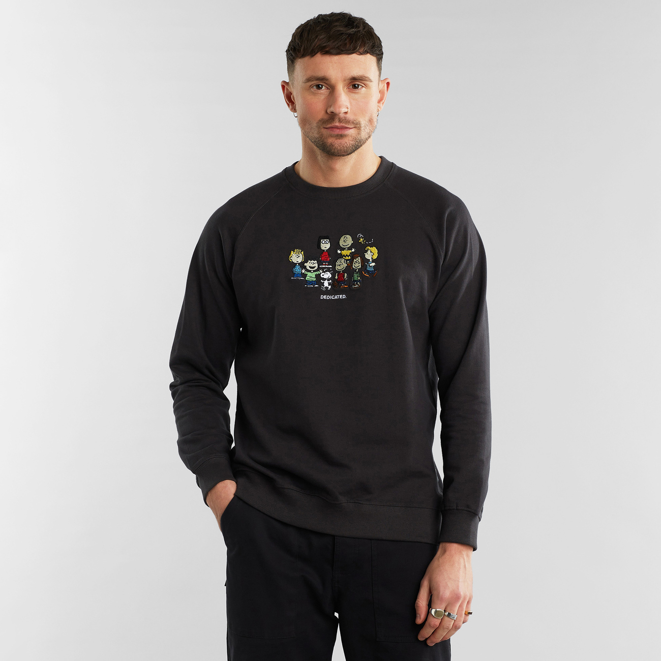 Sweatshirt Malmoe Peanuts Friends Charcoal