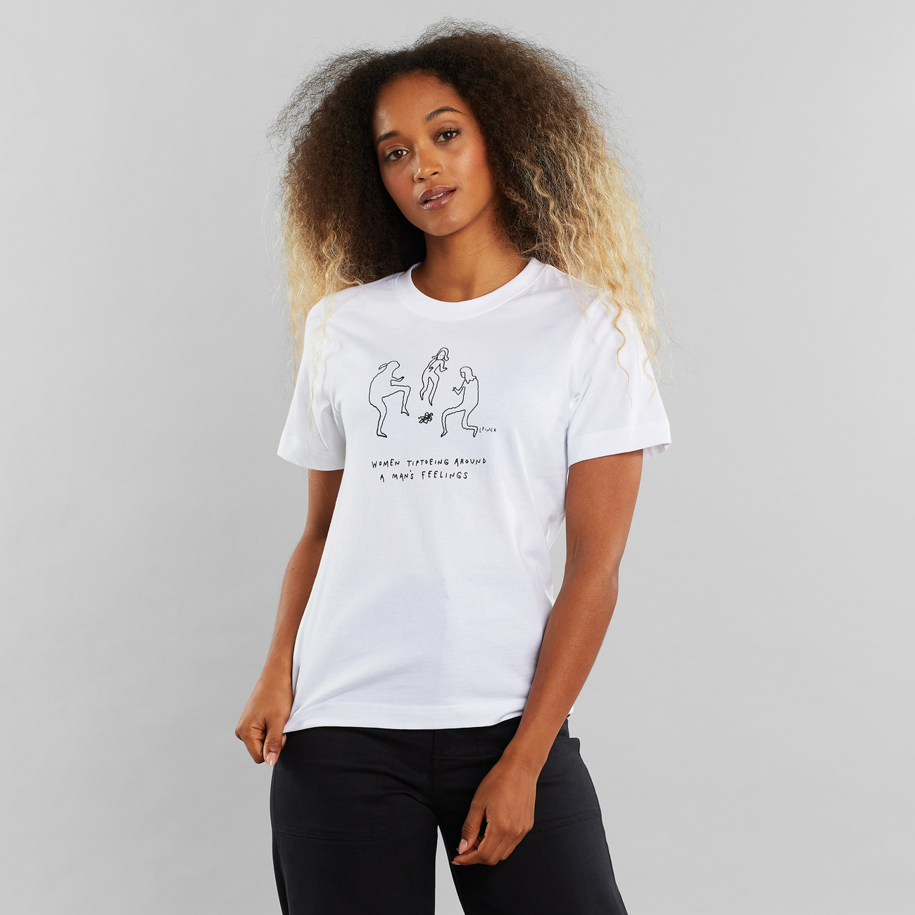 T-shirt Mysen A Man's Feelings White