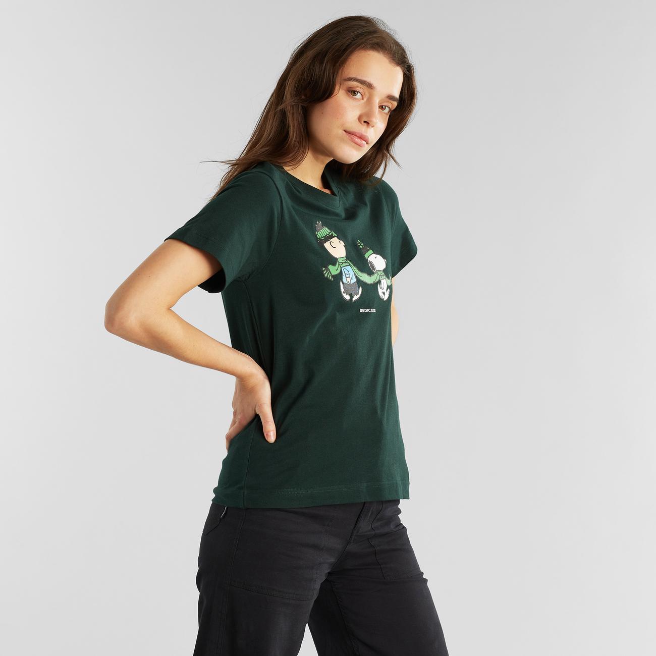 T-shirt Mysen Double Scarf Dark Green
