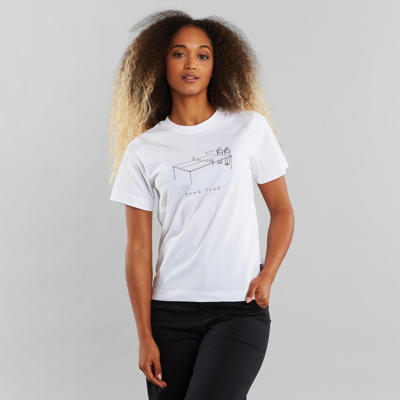 T-shirt Mysen Pong Pong White
