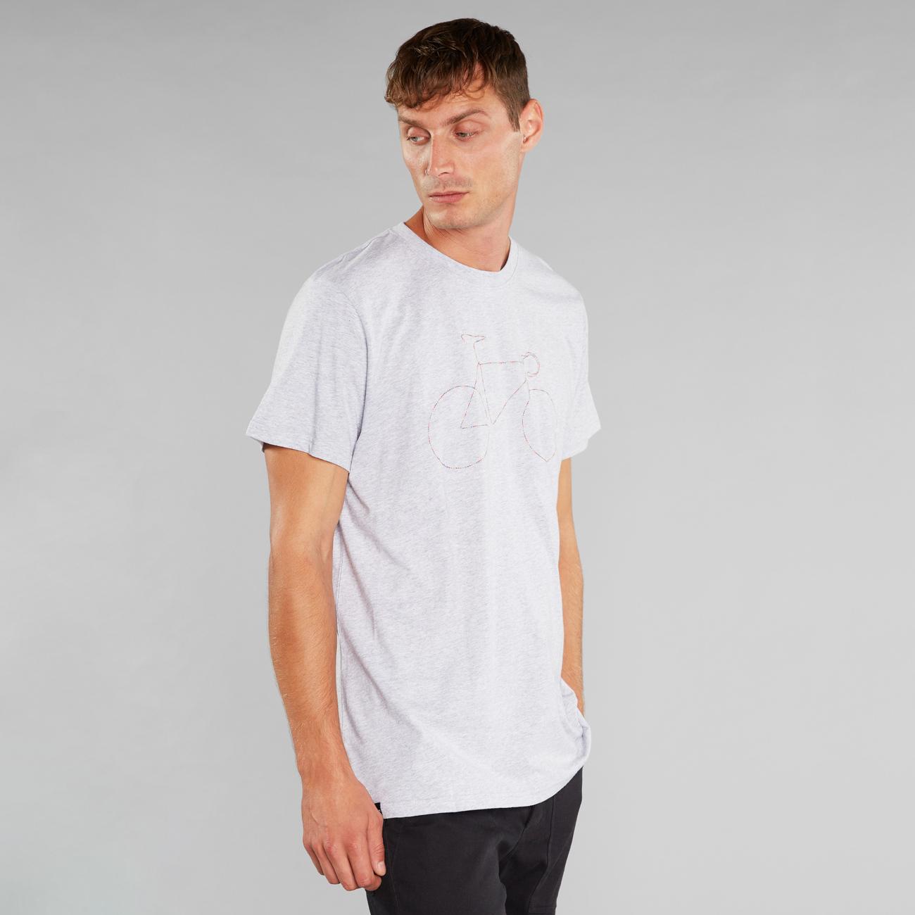 T-shirt Stockholm Rainbow Bicycle Grey Melange