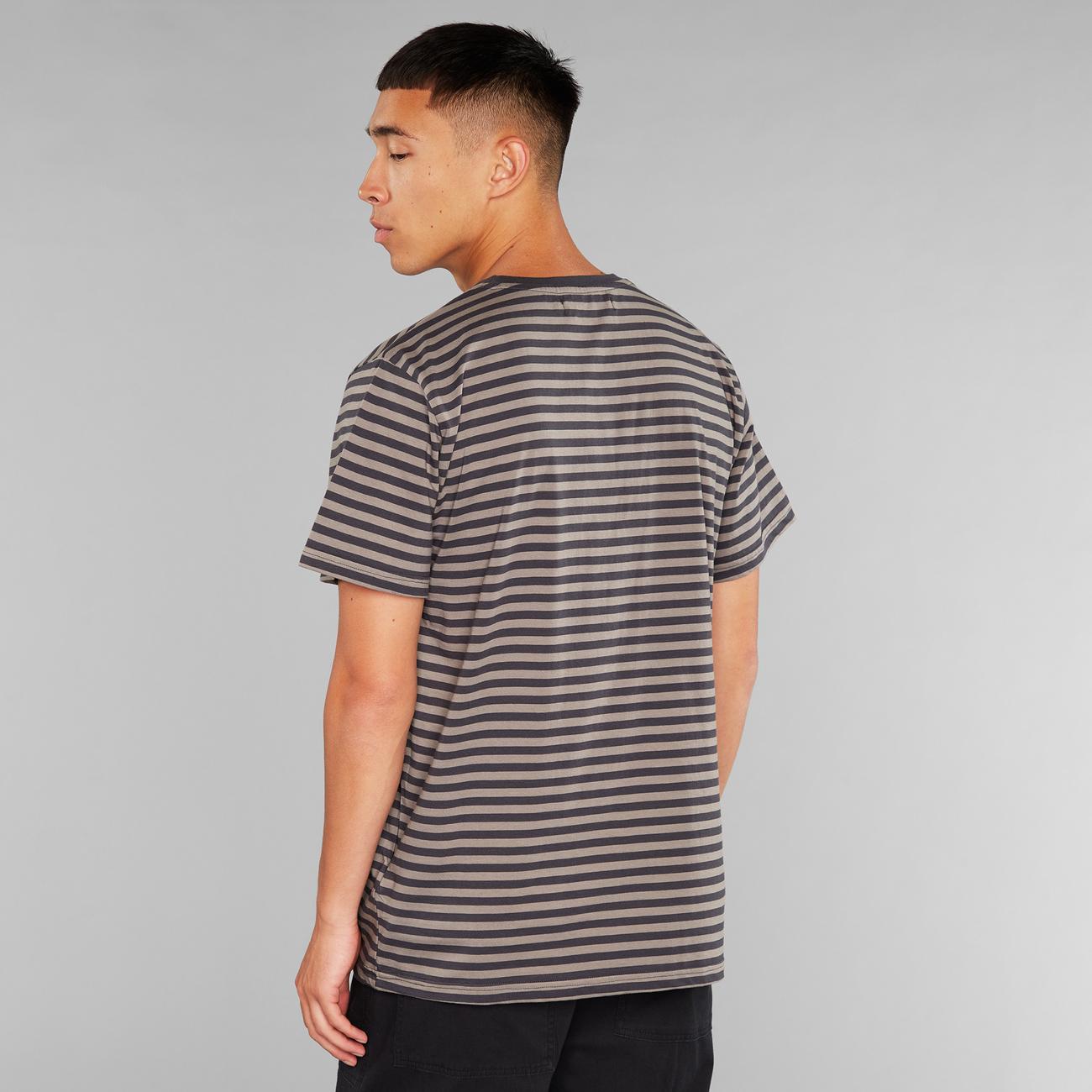 T-shirt Stockholm Stripes Charcoal