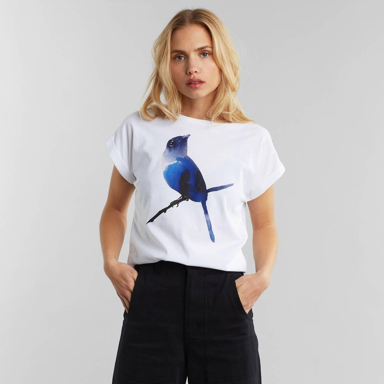 T-shirt Visby Bluebird White