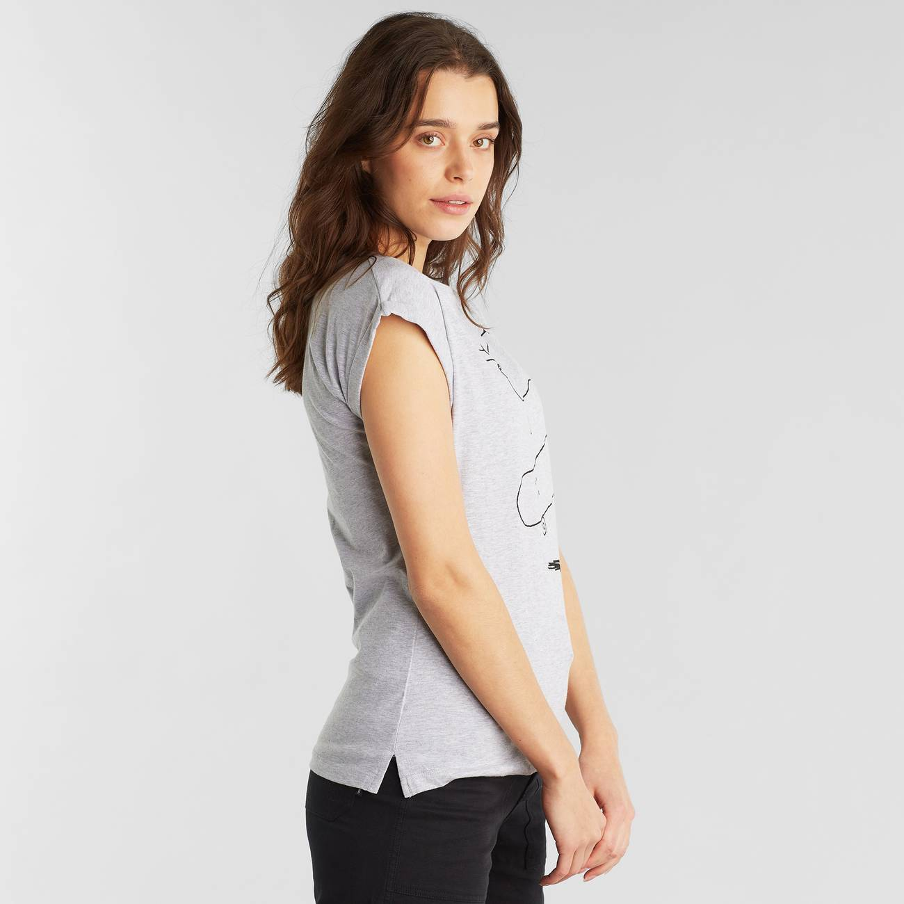 T-shirt Visby Cat Flip Grey Melange