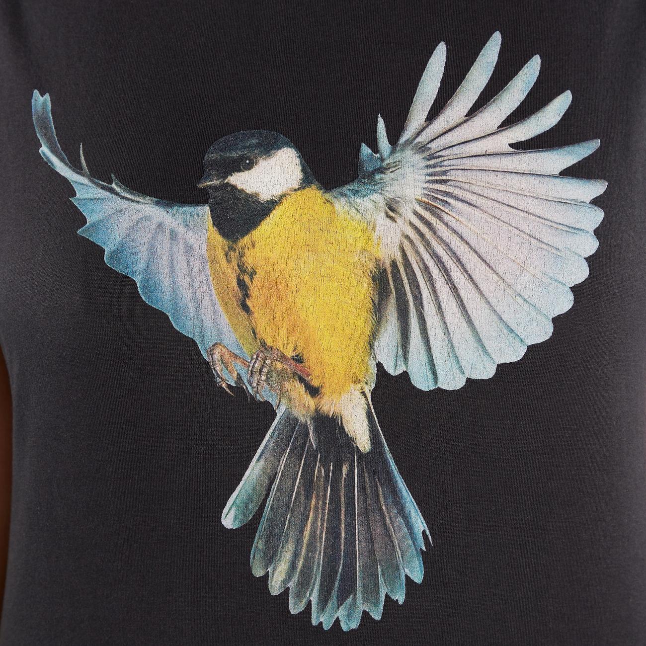 T-shirt Visby Color Bird Charcoal
