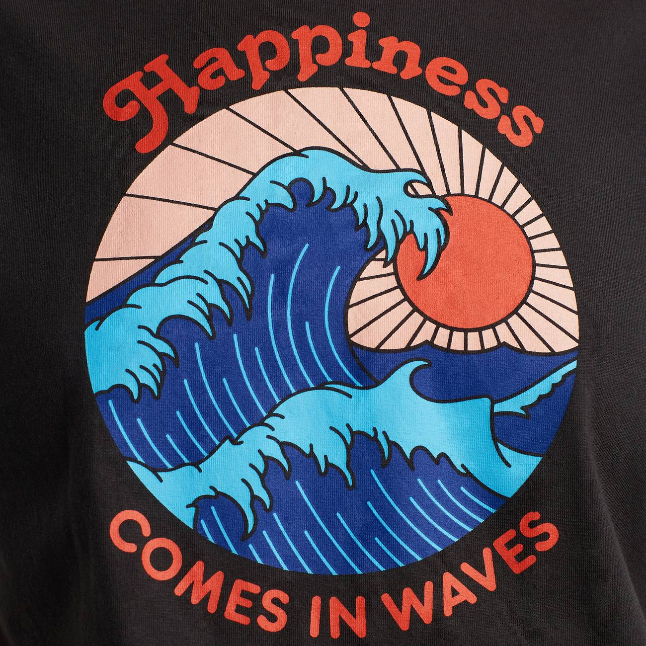 T-shirt Visby Happiness Charcoal