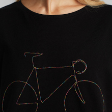 T-shirt Visby Rainbow Bicycle Black