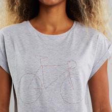 T-shirt Visby Rainbow Bicycle Grey Melange
