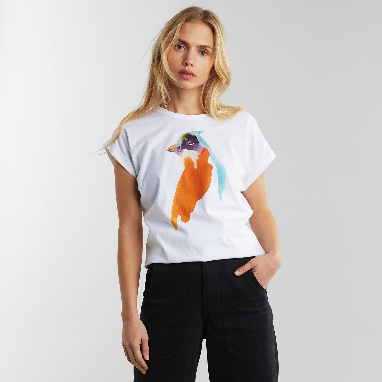 T-Shirt Visby Redbird White