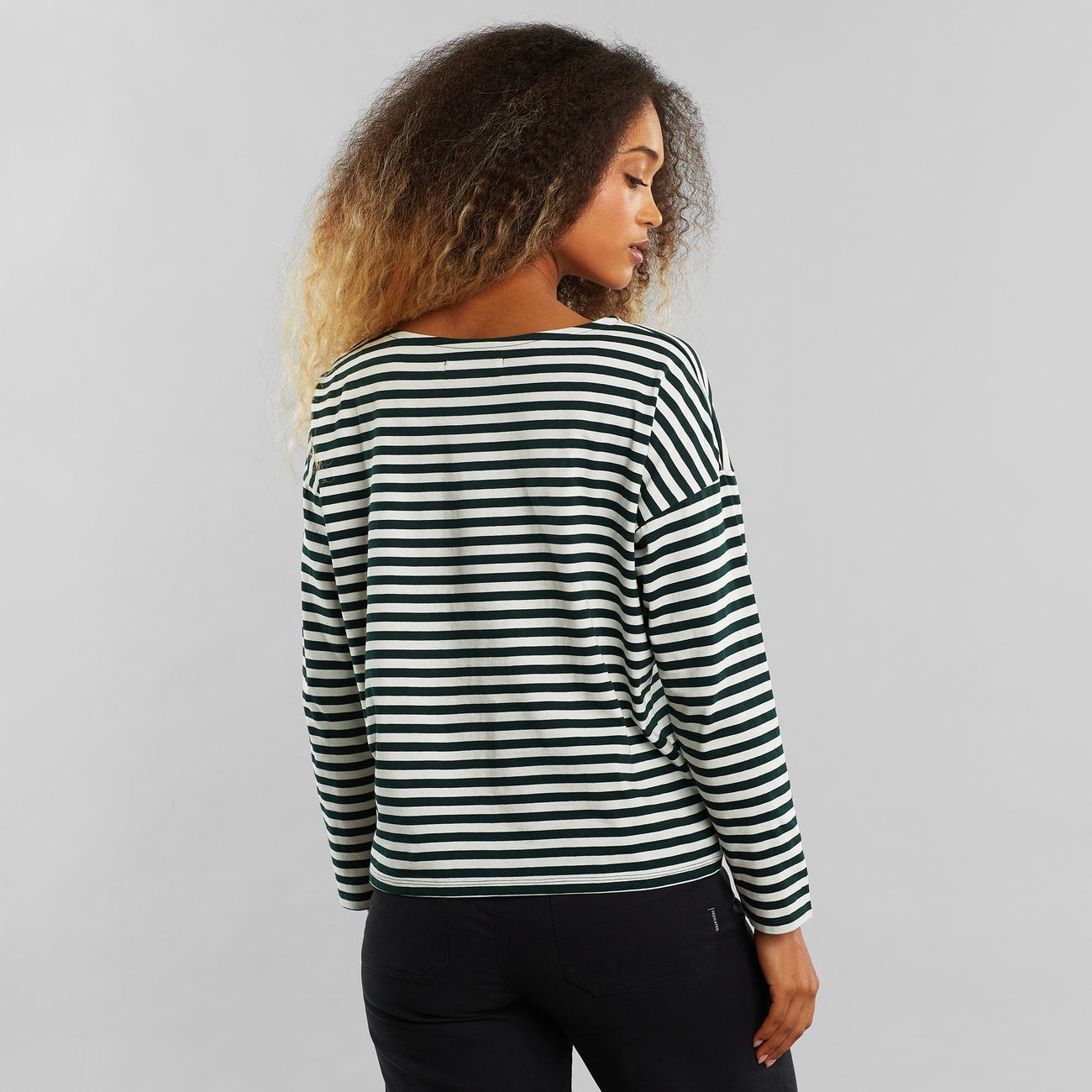 Top Humledal Stripes Dark Green